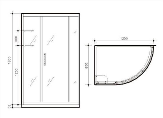 不同类型淋浴房的尺寸有哪些